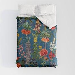 Vintage & Shabby Chic - Blue Midnight Spring Botancial Flower Garden Comforters