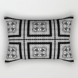 Black and white ornament Rectangular Pillow