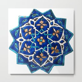 Oriental Design Metal Print