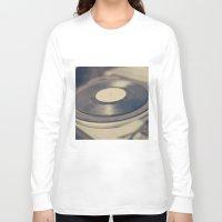 vinyl Long Sleeve T-shirts featuring Vinyl  by Caroline Mint