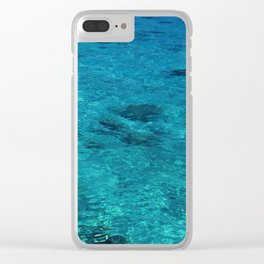 Tahiti Tropical Waters in Peaceful Lagoon of Silence Clear iPhone Case
