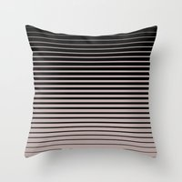 plain Throw Pillows featuring plain lines by My Big Fat Brand