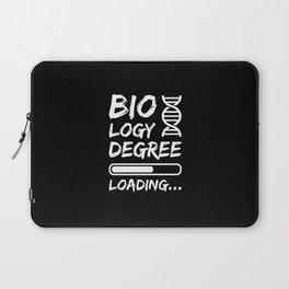 Biology Degree Loading Laptop Sleeve