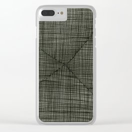 Ink Weaves: Charcoal Clear iPhone Case