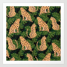 Cheetah Pattern Art Print