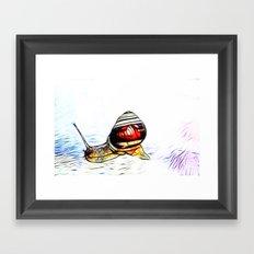 Fractal Snail Framed Art Print
