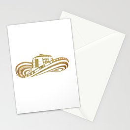 Colombian Sombrero Vueltiao in Gold Leaf Stationery Cards
