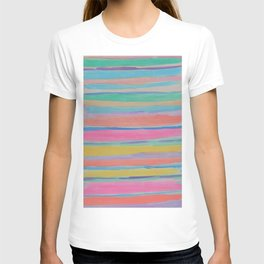 Rainbow Row Abstract T-shirt