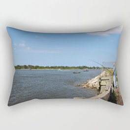 Fishing On Land Or By Boat Rectangular Pillow