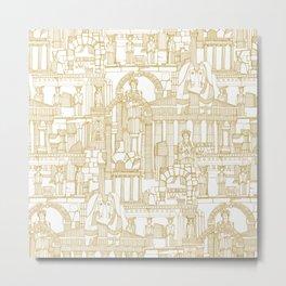 Ancient Greece gold white Metal Print