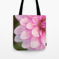 dahlia Tote Bags featuring dahlia by Beverly LeFevre