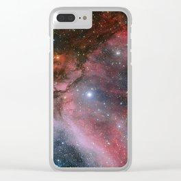 Carina Nebula Space Art Clear iPhone Case