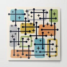 Colorful Mid Century Modern Pattern 141 Metal Print
