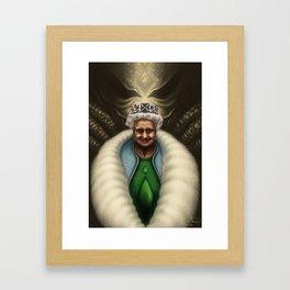 Queen Liz Framed Art Print