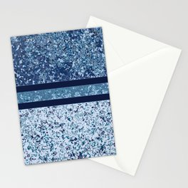 Vintage Terrazzo Blues Stationery Cards