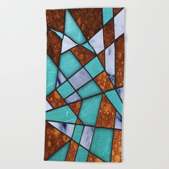 #477 Marble Shards & Copper Beach Towel
