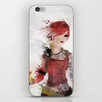 borderlands iPhone & iPod Skins featuring Lilith by Melissa Smith