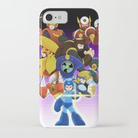 megaman iPhone & iPod Cases featuring Megaman 2 by Patrick Towers