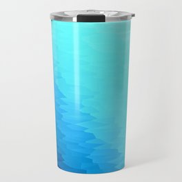 Turquoise Blue Texture Ombre Travel Mug