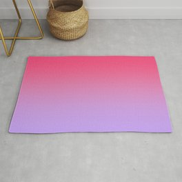 Pink to Lavender Ombre Gradient Rug