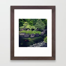 The Koi of Koko-en Garden Framed Art Print