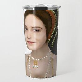 Anne Boleyn painting - on transparent background Travel Mug