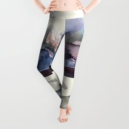 Whales Swiming under the Moutains Leggings