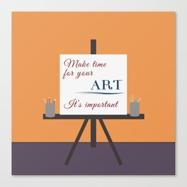 Make Time For Art (Colorful Calligraphy) Canvas Print