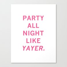 like yayer Canvas Print