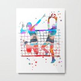 Volleyball girl Metal Print
