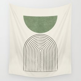 Arch balance green Wall Tapestry