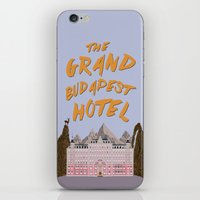 budapest hotel iPhone & iPod Skins featuring THE GRAND BUDAPEST HOTEL by Kaitlin Smith