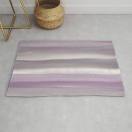Purple Gray Watercolor Dream #1 #painting #decor #art #society6 Rug