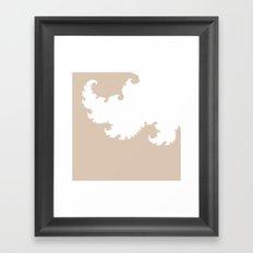 Beige and White Fractal Framed Art Print