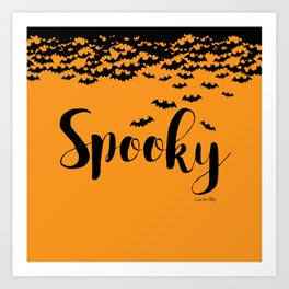 Spooky - orange/black Art Print