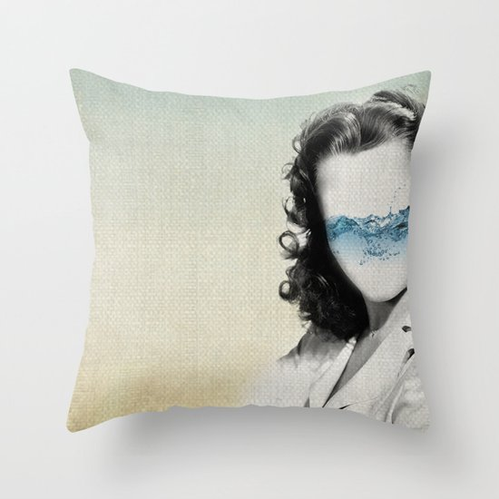 the glass half full Throw Pillow