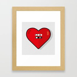 what about love? Framed Art Print