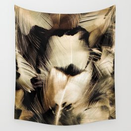 Pheasant Feather Portrait Wall Tapestry