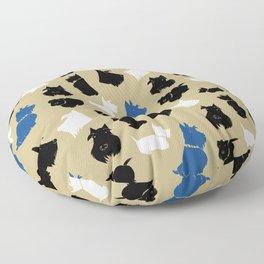 Scottish Terrier Pattern Floor Pillow