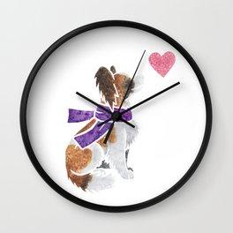 Watercolour Papillon Wall Clock