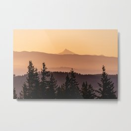 Mount Jefferson Morning II - Nature Photography Metal Print