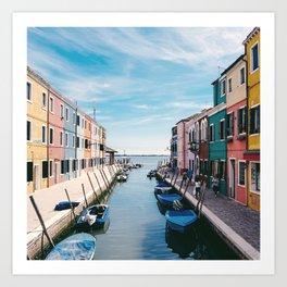 Burano, Venice, Italy Art Print