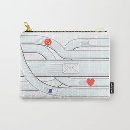 Social Media Tube Carry-All Pouch