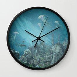 Sunken city Wall Clock
