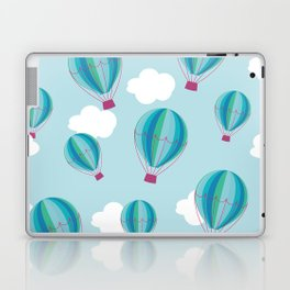 Hot air balloons and clouds - blue Laptop & iPad Skin
