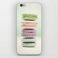macaron iPhone & iPod Skins featuring Macaron Tower by Tiny Deer Studio