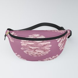 Blushing Deep Pine Cones Fanny Pack