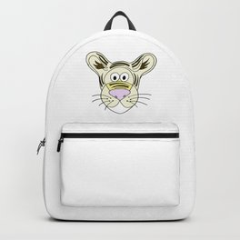 Hand drawn funny looking tiger Backpack