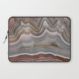 Striped Agate Crystal Laptop Sleeve