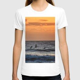 Four Pelicans at Sunrise T-shirt